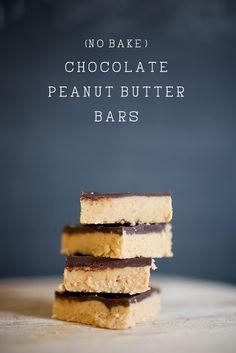 CHOCOLATE: (No bake) Chocolate Peanut Butter Bars