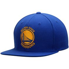 Men s Golden State Warriors Mitchell   Ness Royal Current Logo Wool Solid  Snapback Adjustable Hat ddb0fe4c81e