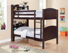 Coaster Parker Twin Over Twin Bookcase Bunk Bed Las Vegas Furniture Online | LasVegasFurnitureOnline | Lasvegasfurnitureonline.com