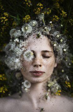 Dandelion      www.instagram.com/alexandra_bochkareva_arts/   Alexandra Bochkareva   Flickr Dandelion Wish, Girls With Flowers, Face Photography, Fine Art Photo, Aesthetic Girl, Lovers Art, Art Projects, Artwork, Beautiful