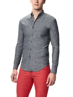 Lightweight Chambray Shirt by Naked & Famous on Park & Bond