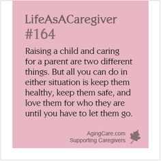 10 Ways Caring for a Parent is Different from Caring for a Child: http://www.agingcare.com/120215 What would you add to the list? Are there any similarities between raising a child and caring for a parent? #LifeAsACaregiver