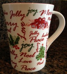 Starbucks Coffee Mug Cup Holiday 2007 #Starbucks