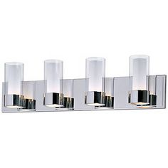 Maxim Silo Polished Chrome 4-Light Bathroom Light Fixture - #R6234 | Lamps Plus