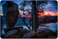 Balanced Rock Sunset - Devils Lake State Park