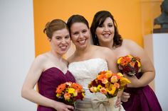 Love the sangria (my bridesmaid color dresses) and orange. Perfect for my late August Summer-Autumn transition wedding! Bridesmaid Color, Bridesmaid Dresses, Wedding Dresses, August Summer, August 2013, Wedding Stuff, Our Wedding, Dream Wedding, Sangria Color