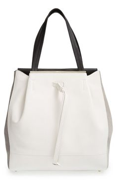 Furla 'Twist - Medium' Leather & Suede Tote available at #Nordstrom