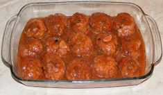 Meatballs with sauce - Chiftelute de porc in sos marinat Meatball Sauce, Deserts, Food And Drink, Appetizers, Tasty, Cooking, Ethnic Recipes, Martha Stewart, Main Courses