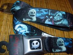 NIGHTMARE BEFORE CHRISTMAS JACK SANTA BUCKLE DOWN SEATBELT BELT OSFM SPENCER'S #BuckleDown #SEATBELT