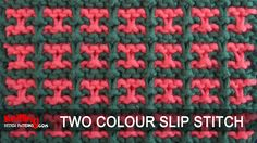 A video on how to knit the Two-colour Stitch Stitch.