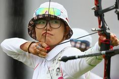 Choi Hyeon-Ju of Korea competes in the Women's Team Archery Gold medal match between Korea and China on Day 2. #Olympics2012 #LondonOlympics.