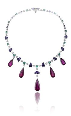 #Chopard Rubellite Necklace, part of the Red Carpet Collection