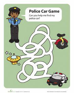 Worksheets: Police Car Game