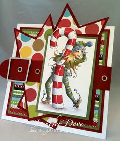 """and DoveArt Studios: """"Sweet"""" Elf Outdoor Christmas Decorations, Christmas Crafts, Holiday Decor, Xmas Cards, Holiday Cards, Christmas Drawing, Nutcracker Christmas, Card Sketches, Copics"""