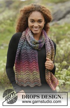 Rainbow Ripples by DROPS Design. Free #knitting pattern