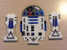 3D R2D2 - Star Wars original perler bead design by Guus Oosterbaan