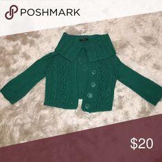 Express Green Crop Sweater Express Green Crop Sweater. 71% Acrylic & 29% Wool. Express Sweaters