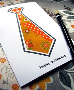 There are so many great homemade card ideas for Father's Day, sometimes it's hard to pick one. Why not go simple this year with this DIY Necktie Card? This is one of those Fathers Day crafts you can easily personalize to perfectly suit your Dad. Fathers Day Photo, Fathers Day Quotes, Fathers Day Crafts, Happy Fathers Day, Father Knows Best, Father's Day Specials, Dad Day, Diy Scrapbook, Scrapbooking