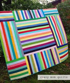 The parachute quilt has been finished for quite awhile now...but I wasn't sure if I was going to write a pattern for it or what to do with it. Turns out that Robert Kaufman is offering it as a ...