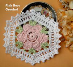 PINK ROSE CROCHET /: Flower