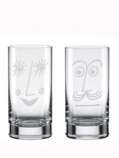 his and hers | diy something like this with glass etching creme.