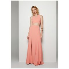Salmon Pink Chevron Two Piece Dress ($249) ❤ liked on Polyvore featuring dresses, salmon, evening dresses, bridesmaid dresses, two piece dresses, cocktail dresses and pink bridesmaid dresses