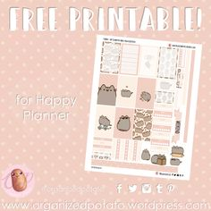 Who doesn't love Pusheen the cat?! She's just so adorable! I had been meaning to make a Pusheen printable for a while, but just kept pushing it back for one reason or another. I'm…