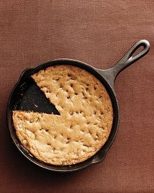 Skillet Chocolate Chip Cookie: One pan and two steps create this soft, gooey, giant cookie.