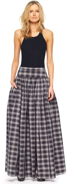 Nothing like a change in the game. Plaid maxi skirt!