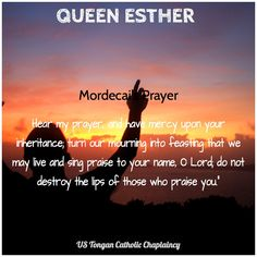 Book of Esther- Mordecai's prayer Esther Bible Study, Book Of Esther, Bible Notes, Bible Verses, Queen Esther, Word Of God, Me Quotes, Catholic, Singing