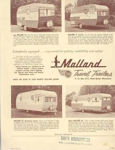 1955 ? Mallard Travel Trailer Brochure r1404-TI226V