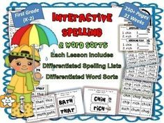 Spelling and Word Sorts Differentiated Whole Year Interactive