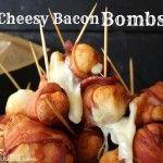 ~Bacon Wrapped..Mozzarella Stuffed Mushrooms!   Oh Bite It