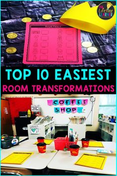 Ever wanted to try an EASY classroom transformation? This lists the 10 Easiest Classroom Transformations you can do! This can be used as practice or as a review activity for upper elementary students. Kids get to practice 3rd grade math concepts such as addition, subtraction, multiplication, division, geometry, fractions, area and perimeter, bar graphs, pictographs, word problems and many more. #3rdgrademath #teachers #classroomtransformation