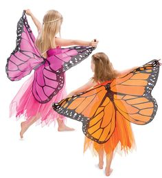 Fanciful Fabric Butterfly Dress with Wings #costume