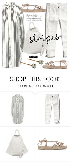 """""""One Direction: Striped Shirts"""" by paculi ❤ liked on Polyvore featuring Abercrombie & Fitch, Chloé, stripes and nastydress"""