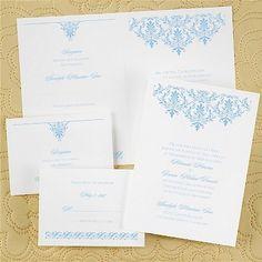 Stylish Damask Sep 'n Send Wedding Invitation