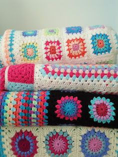crochet blankets. i always grab these when i find them vintage.