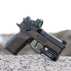 Tactical Pistol, Tactical Gear, 9mm Pistol, Revolver, Weapons Guns, Guns And Ammo, Cz Po7, Rifles, Ar Rifle