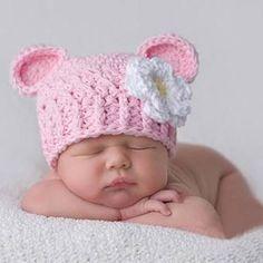 Resultado de imagen para gorros tejidos para bebe