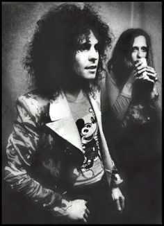 marc bolan with his wife, june child.