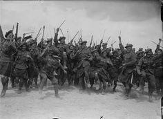 "June 18th 1918. Transvaal Scottish regiment ""Bull Ring"" in France."