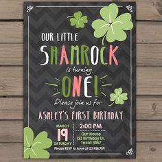 St. Patrick's Day Birthday Invitation van Anietillustration op Etsy