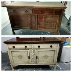 Painted Buffet (before & after)