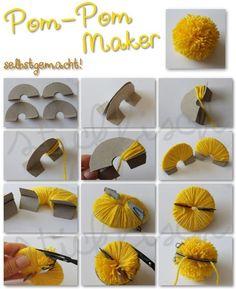 Diese Idee wollte ich Euch schon seit Mai zeigen, so alt sind die Fotos schon *h… – Neue Deko-Ideen This idea I wanted to show you since May, so old are the photos already * h … – New decoration ideas Kids Crafts, Easter Crafts, Diy And Crafts, Craft Projects, Preschool Crafts, Pom Pom Crafts, Yarn Crafts, Pom Pom Rug, Pom Poms