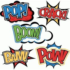Silhouette Design Store: superhero words