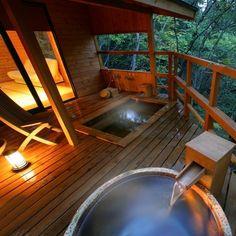 Kinugawa Onsen - A Japanese hot spring bath.