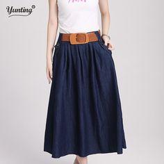 bff7c46948d Fair price Korean Charm Lady Casual Denim Skirts New Loose Long Design Women  Fashion A-