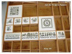 Printers Drawer, Cross Stitch, Display Cases, Embroidery, Trays, Drawers, Boxes, Printing Press, Punto De Cruz