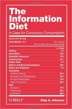 The Information Diet: A Case for Conscious Consumption: Clay A. Johnson: 9781449304683: Amazon.com: Books